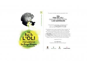 Invitació Cogul - Presentació 53a Fira de l'Oli i les Garrigues