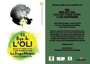 Invitació IEI - presentació 53a Fira de l'Oli i les Garrigues